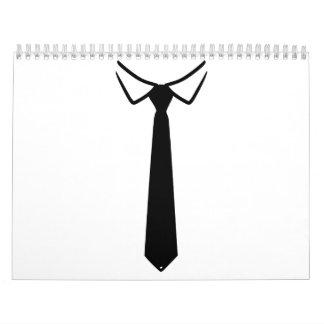 Lazo del cuello de la camisa calendarios de pared