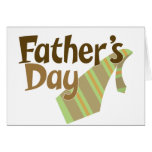 Lazo del día de padre tarjeta