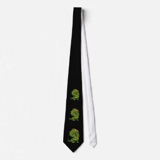 Lazo del dibujo animado del dragón verde corbatas personalizadas