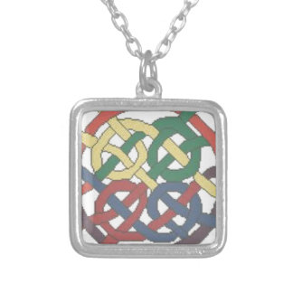 Lazo del diseño del nudo, collar célticos colorido