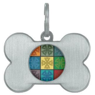 Lazo del diseño del nudo, collar célticos colorido placas de mascota