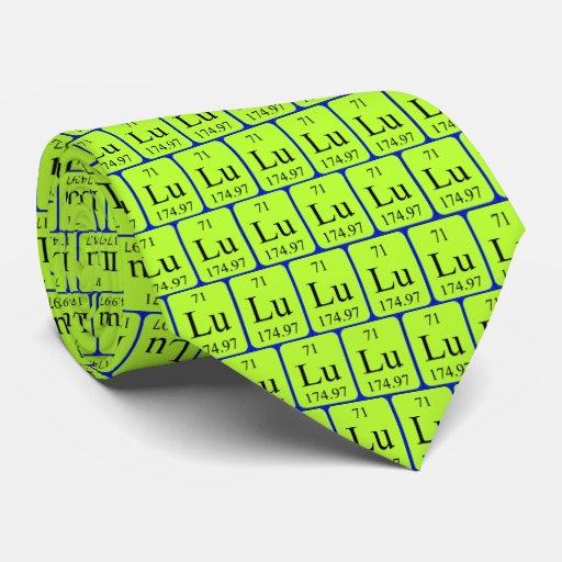Lazo del elemento 71 - lutecio corbata personalizada