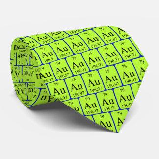 Lazo del elemento 79 - oro corbata personalizada