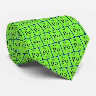 Lazo del elemento 84 - polonio corbatas