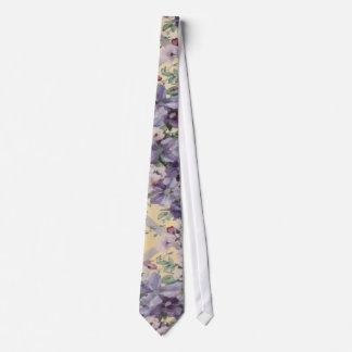 Lazo del enrejado de la flor corbatas