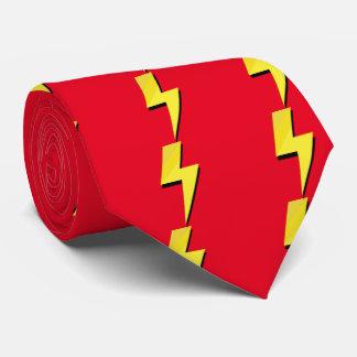 Lazo del flash del perno de trueno corbata personalizada