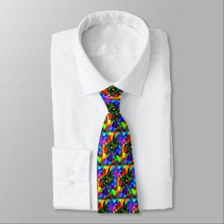 Lazo del flower power del cosmos corbata personalizada