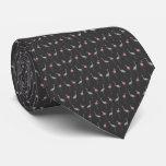 Lazo del frenesí del flamenco (gris oscuro) corbatas personalizadas