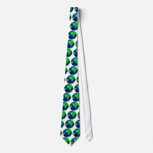 Lazo del globo corbatas personalizadas