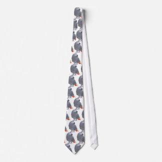 Lazo del gris africano corbatas