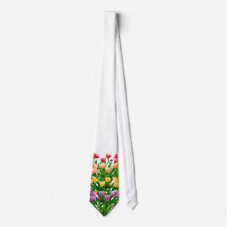 Lazo del jardín del tulipán de la primavera corbatas personalizadas