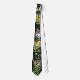 Lazo del jardín del vitral de Tiffany Corbata Personalizada