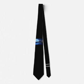 Lazo del logotipo de las producciones del río de corbata