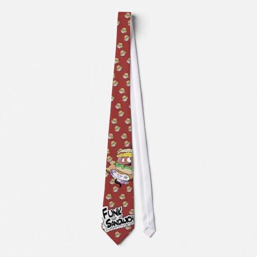 Lazo del logotipo del bocadillo del miedo corbata personalizada