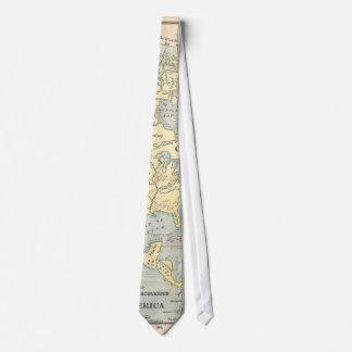 Lazo del mapa del vintage corbatas personalizadas