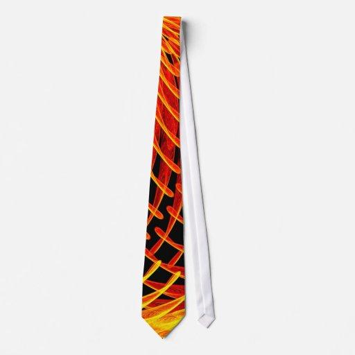 Lazo del microscopio electrónico en ámbar corbata personalizada