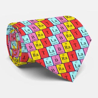 Lazo del nombre de la tabla periódica de la rata corbata personalizada