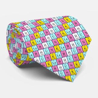Lazo del nombre de la tabla periódica del trozo corbatas