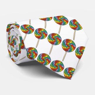 Lazo del orgullo gay de los Lollipops del caramelo Corbata