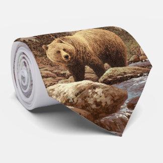 Lazo del paisaje del oso grizzly corbata