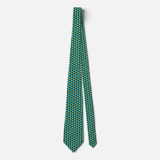 Lazo del panal de la bandera de Bahamas Corbata Personalizada