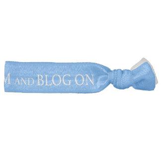 Lazo del pelo - guarde la calma y el blog encendid bandas para cabello