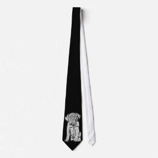 Lazo del perrito de Dogue de Bordeaux Corbata Personalizada