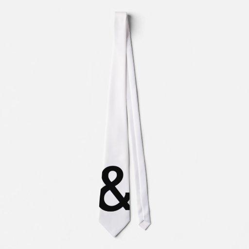 """Lazo del signo """"&"""" corbatas personalizadas"""