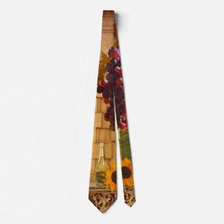 Lazo del tema del viñedo o del vino corbatas personalizadas