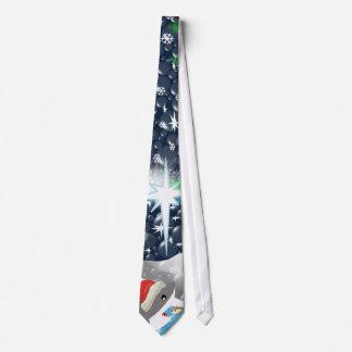 Lazo del tiburón del navidad corbata personalizada
