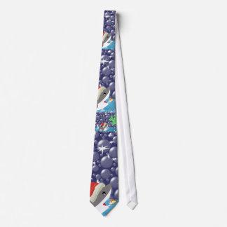 Lazo del tiburón del navidad corbatas personalizadas