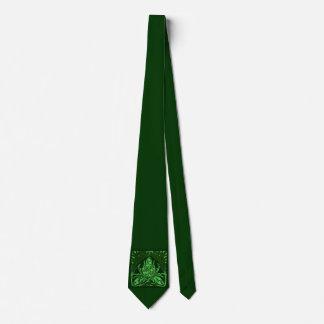 Lazo del verde de la hoja floral del vintage corbatas