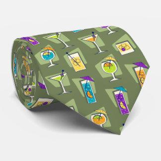 Lazo del verde de musgo del cóctel de los años 50 corbata