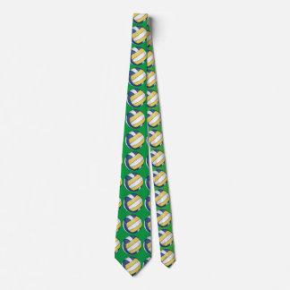 Lazo del verde del modelo del arte del voleibol corbata personalizada