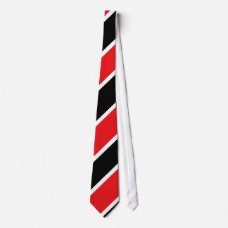 Lazo Diagonal-Rayado blanco y negro rojo Corbata Personalizada