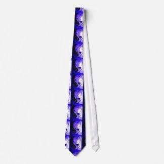 Lazo dibujado mano azul marino del arte del cráneo corbata personalizada