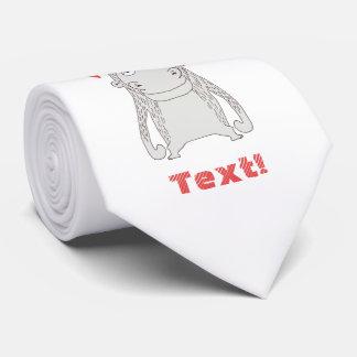 Lazo divertido del el día de San Valentín del mono Corbata