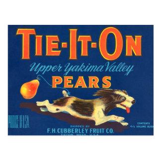 Lazo-Él-En el anuncio del vintage de las peras Tarjetas Postales