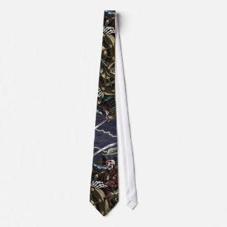 Lazo esquelético del pirata corbatas