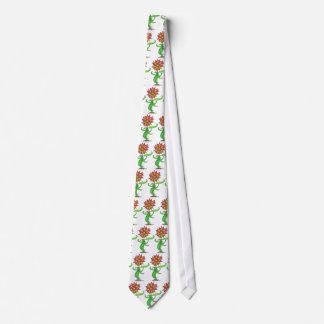 Lazo estilizado salvaje de la flor corbatas