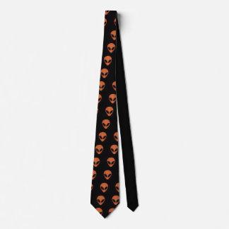 Lazo extranjero anaranjado y negro de la cara corbatas
