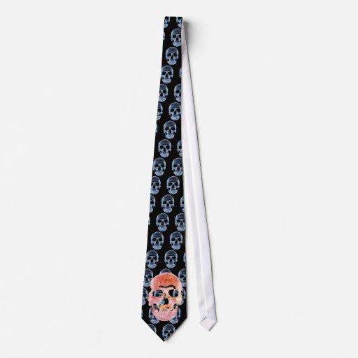 Lazo extraño del cráneo del fuego corbata personalizada