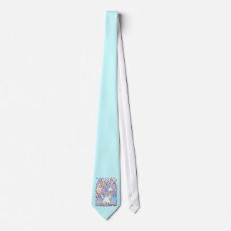 Lazo feliz de los conejitos de pascua corbatas