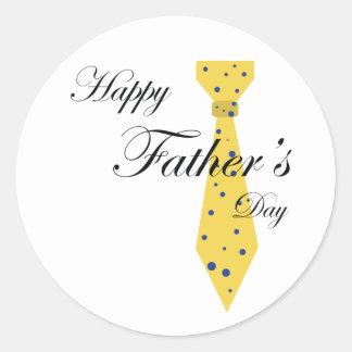Lazo feliz del día de padre etiqueta