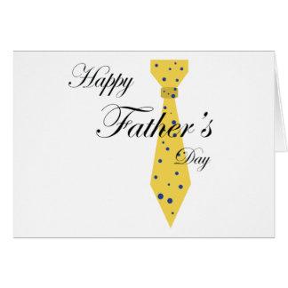 Lazo feliz del día de padre felicitacion