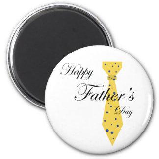 Lazo feliz del día de padre iman de nevera