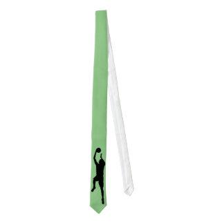 Lazo flaco de encargo del jugador de básquet corbata