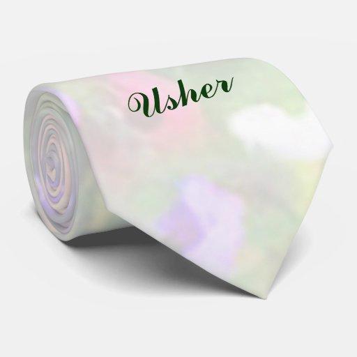 Lazo floral de Usher de las impresiones Corbatas Personalizadas