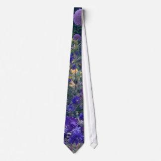 Lazo floral del jardín púrpura corbatas personalizadas