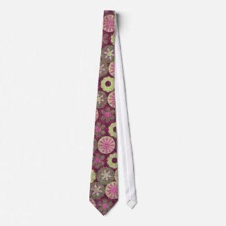 Lazo floral enrrollado corbata